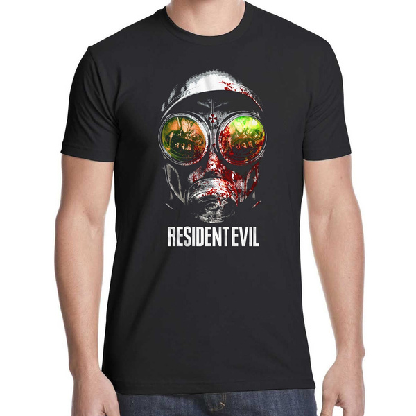 Resident Evil Gas Mask Mens Black T Shirt Back To Search Resultsmen's Clothing