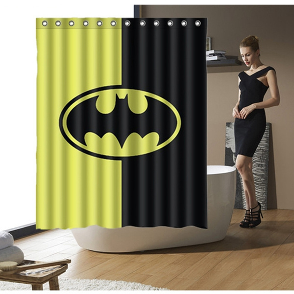 Cartoon Hero Batman Bathroom Accessories Waterproof Shower Curtain