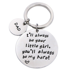 Steel, Key Chain, Stainless Steel, giftfordadfromdaddyslittlegirl
