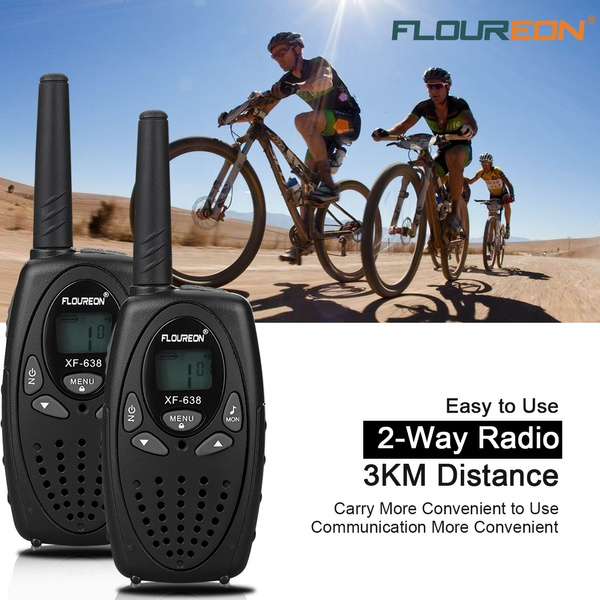 FLOUREON 8CH Walkie Talkies UHF400-470MHZ 2 Way Radio 3KM Interphone EU UK