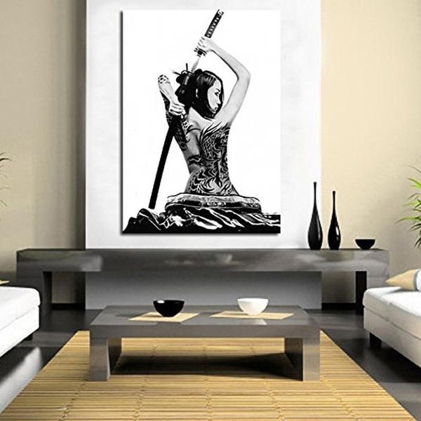 Decor, art, bushido, Abstract Oil Painting