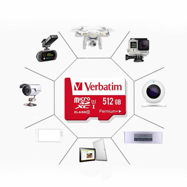 Geek | Verbatim memory cards 1GB 32GB 64GB 128GB 256GB 512GB Micro