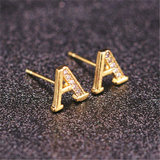 DIAMOND, Jewelry, gold, Stud Earring