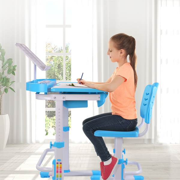 Prime Nidouillet Childrens Desk And Chair Set Height Adjustable Child Table Chair Set For Kids Student Learning Study Work Station With Drawer Ab002 Gmtry Best Dining Table And Chair Ideas Images Gmtryco