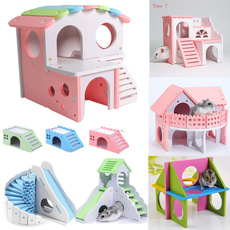 woodenhamsternest, villa, Colorful, Wooden