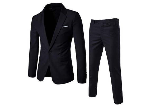2017 High Quality Business and Leisure Suit A Three-piece Suit The Groom's Best Man Wedding 9 Colors (Tops+Pants)