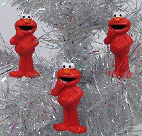 wish sesame street muppet ornament set featuring 6 elmo christmas tree ornaments
