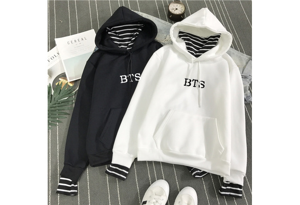 2018 New Unisex BTS Hoodie Bangtan Boys Hoodies Sweatshirt Tops Pullovers Kpop Fans Clothes Oversized Solid Cotton Harajuku Kawaii Tops