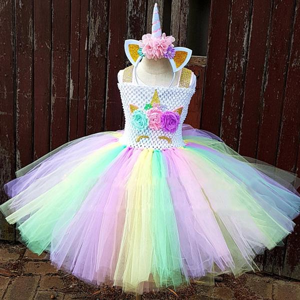293611c40 unicorntutuforgirl, princessponycostume, birthdaydressesforgirl, Dress
