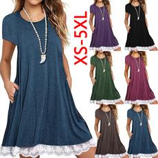 Mini, Plus Size, Lace, Summer