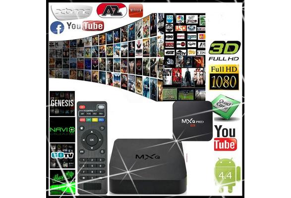 MXQ&MXQ Pro Quad 4 Core WiFi XBMC Full HD 1080P Smart Set TV Box 1G+8GB HNK