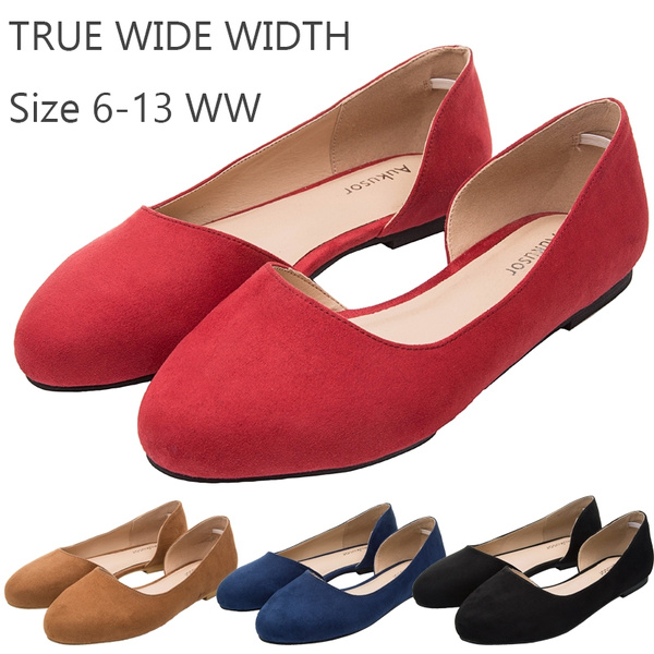 7540d2f149202 Aukusor Women's Wide Width Ballet Flat - Comfortable Sandals Slip On  Pointed Toe Summer Casual Shoes.