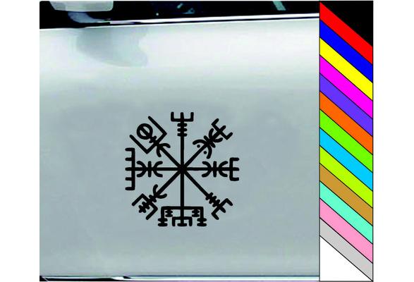 Vegvisir runic compass vinyl sticker decal ipad car window tattoo rune viking
