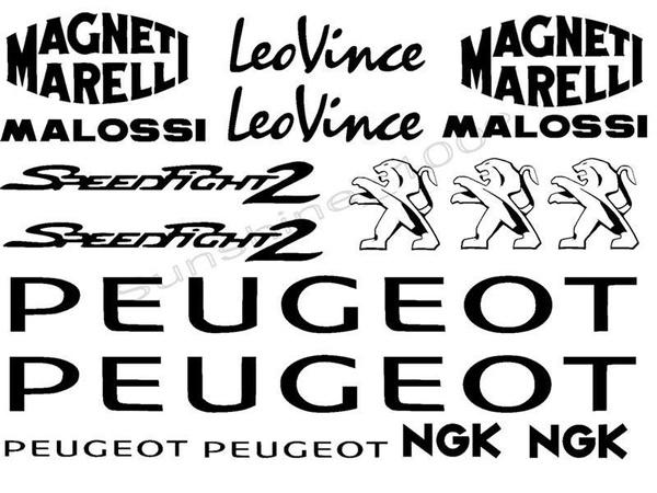 Peugeot Speedfight Aufkleber Malossi Leovince Magneti Marelli Sticker Set 17pc