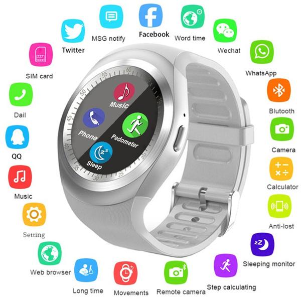 b6c56f4b6 2018 New Smart Watch Round Support Nano SIM TF Card With Bluetooth ...