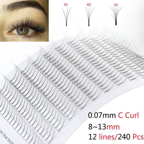 f166b6f1605 SKONHED Beauty 3D/4D/5D Fans C Curl Mink Hair False Eyelashes ...