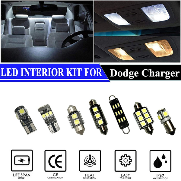 Led Interior Lights Accessories Replacement Package Kit For 2011 2016 Dodge Charger 16 Pieces