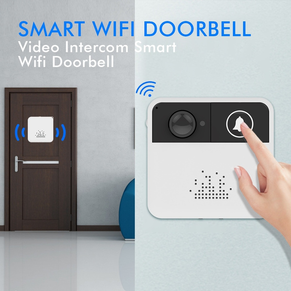 New DK177 Wireless Wifi Doorbell Intercom Door Bell Video Camera Two-Way  Audio Night Vision Remote Control APP Control for IOS Android Mobile Phones