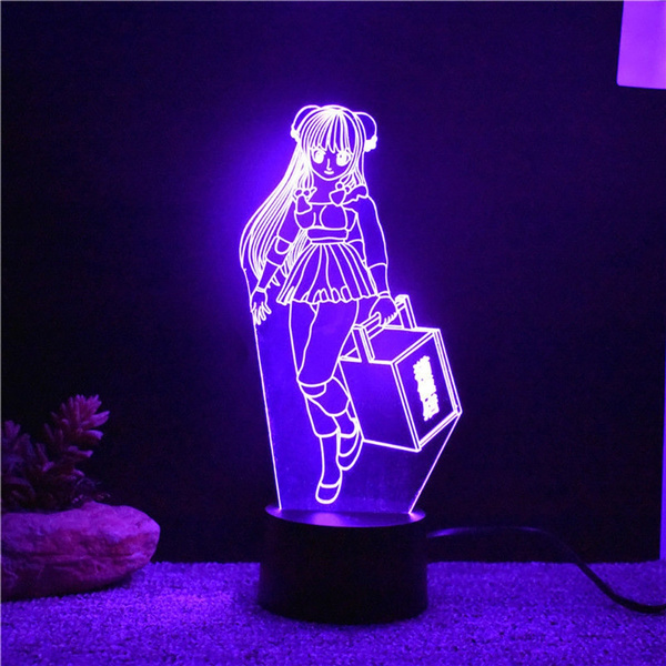 Led Lamp Anime Beauty Girl Usb Desk Lamp 3d Led Home Living Room Decor Lighting 7 Color Changing Night Light Child Holiday Creative Gifts