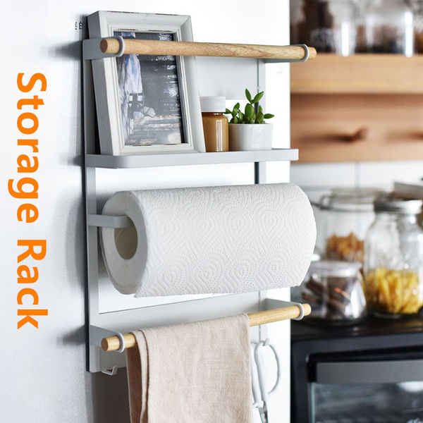 Multifunction Storage Rack Iron Magnetic Storage Rack Refrigerator Shelf  for Living-room or Kitchen