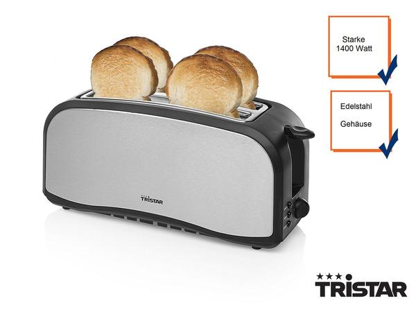 Design Toaster Edelstahl 4 Slice Toaster silber//schwarz 4 Scheiben Toaster