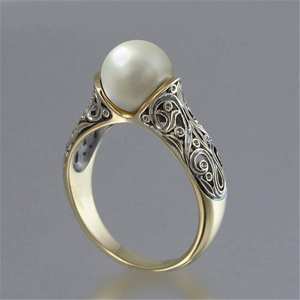 Antique, Pearl Ring, Jewelry, Cocktail