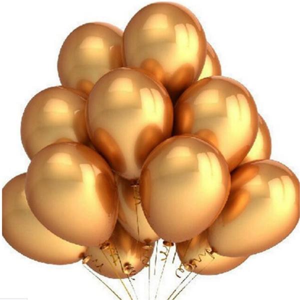 100 Stks Set Gold Latex Ballonnen 10 Inch Opblaasbare Latex Helium Ballonnen Bruiloft Happy Birthday Lucht Ballonnen