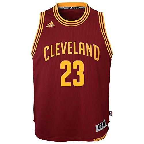 the latest e9028 588f7 NBA Cleveland Cavaliers LeBron James Boys Player Swingman Road Jersey,  Small (8), Burgundy