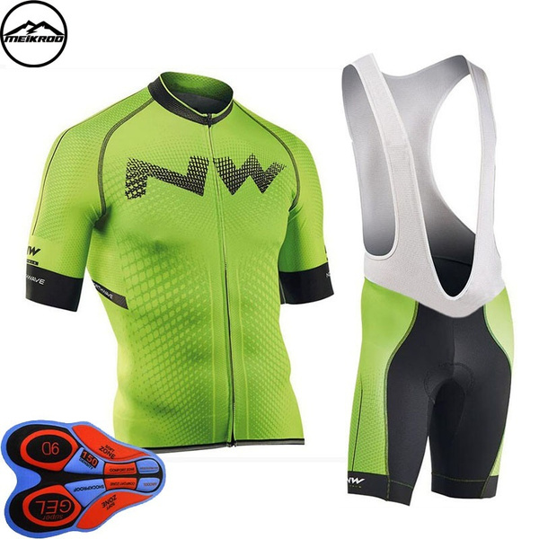 e0595fb99d2a 2018 NEW! NW Cycling Jersey Short Jersey Ropa De Ciclismo Maillot Cycling  Clothes Set Bike Wear Gel Pad Breathable