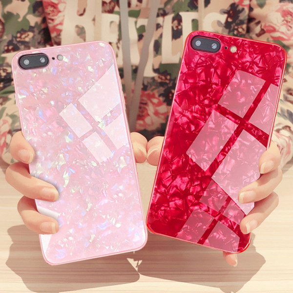 5167d61f95e Luxury Explosion-proof Marble Pattern Tempered Glass Case For iPhone ...