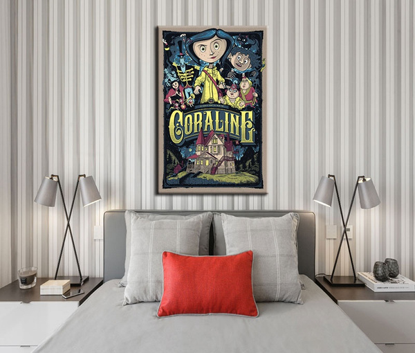 Hd Painting Coraline Y La Puerta Secreta Libro Home Decoration Bedroom Unframed Wall Art Home Decor For Living Room Pictures Wall Art On Canvas Geek