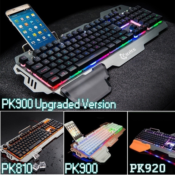 Colorful Backlight Keyboard PC Laptop Gaming Keyboards (PK900 has 9 Backlit  Mode/PK900 Upgrade has one Backlit)