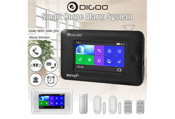 Digoo DG-HAMA Full Touch GSM /& WiFi Smart Home Burglar Security Alarm System APP