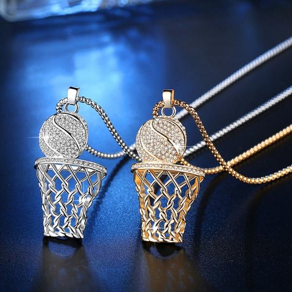 Box, Basketball, punk necklace, Jewelry
