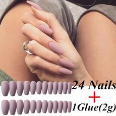 nail decoration, pink, nail stickers, Fake Nails