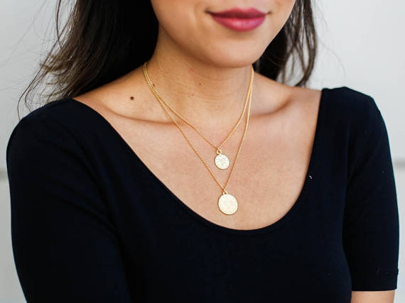 Jewelry, gold necklace, naturalstone, Moonstone