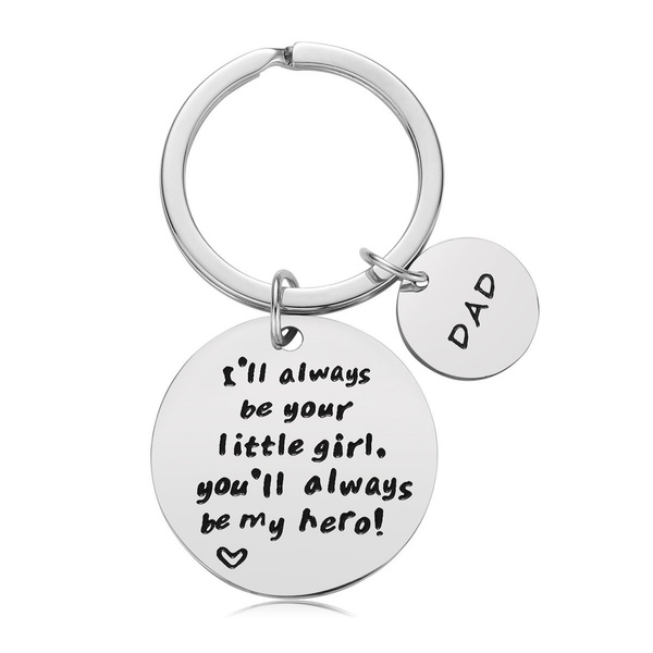 Steel Key Charms Letterringkeychain Gifts