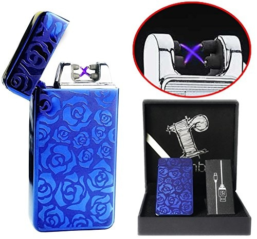Blue Plasma lighter Gift Box Double arc