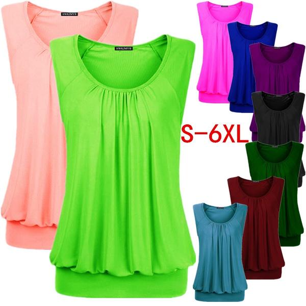 blouse, Summer, o-neck, Tops & Blouses