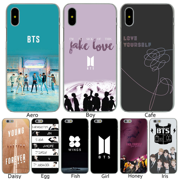 B1 BTS Fake Love Bangtan Boys Face Yourself Hard Transparent Phone Shell  Case for iPhone 8 7 6 6s Plus 5 5S SE 5C 4 4S 10 Cover for Apple iPhone X  XR