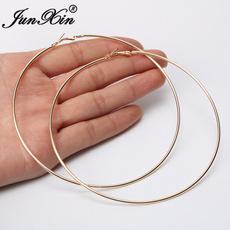 bigroundearring, Dangle Earring, Jewelry, gold