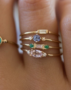 goldplated, yellow gold, Fashion, zirconring