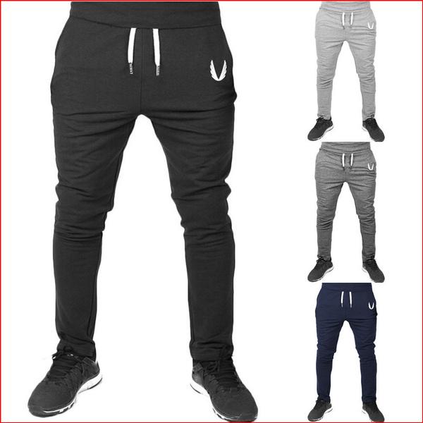 Mens Slim Fit Pants Tracksuit Joggers Sport Gym Yoga Fitness Trousers Sweatpants
