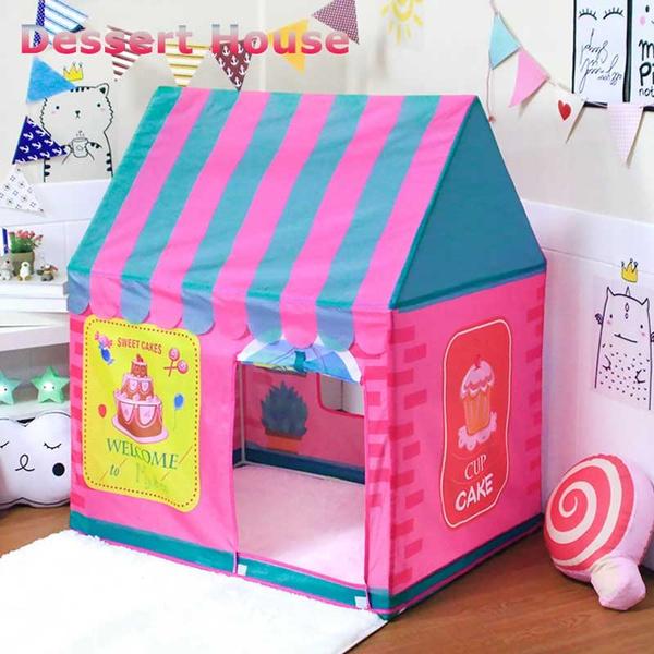 sports shoes 0d560 79748 kid play house Dessert House Fairy House Portable Folding Princess Castle  Tent Kids Children Funny Play toys baby tent indoor