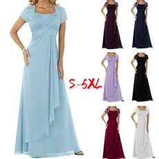 party, Plus Size, high waist, Chiffon Dresses