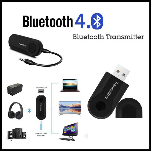 Wireless Bluetooth Transmitter Stereo 3.5mm Audio Music Adapter for TV//Phone//PC