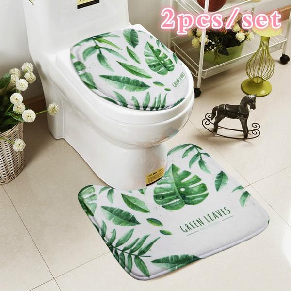 Pcs Bath Mat Set Toilet Carpet Suit Wc