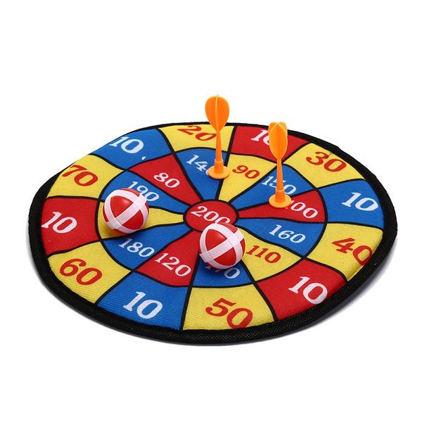 Darts plate suit children toy safety plant flannelette soft paper dart board JF