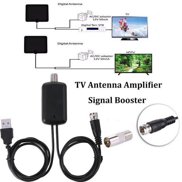TV Receiver 25dB USB Power Supply HDTV Aerial Amplifier TV Antenna Get More  Channels Signal Amplifier Booster