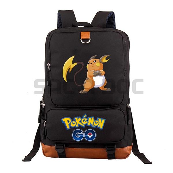 cd320f762415 Casual Pokemon Raichu Backpack Boys Girls man women Backpacks school Bag  teens cool Daily backpack